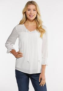 Smocked Gauze Poet Top