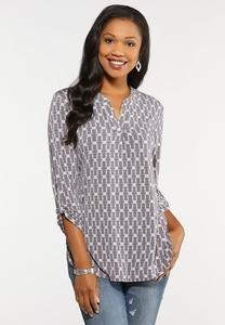 Plus Size High Low Link Top