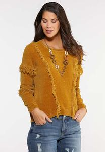 Chenille Fringe Sweater