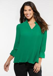 Pleated Poet Top