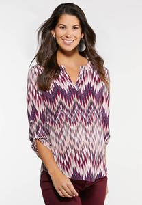 Printed Tunic Top