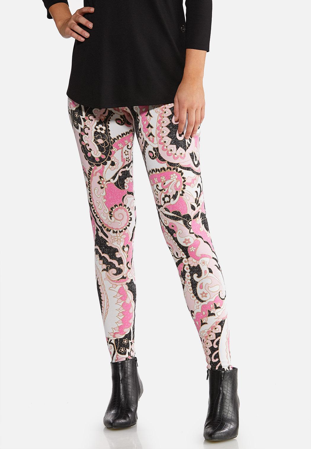 Pink Paisley Leggings