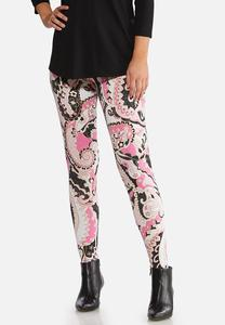 Pink Paisley Leggings