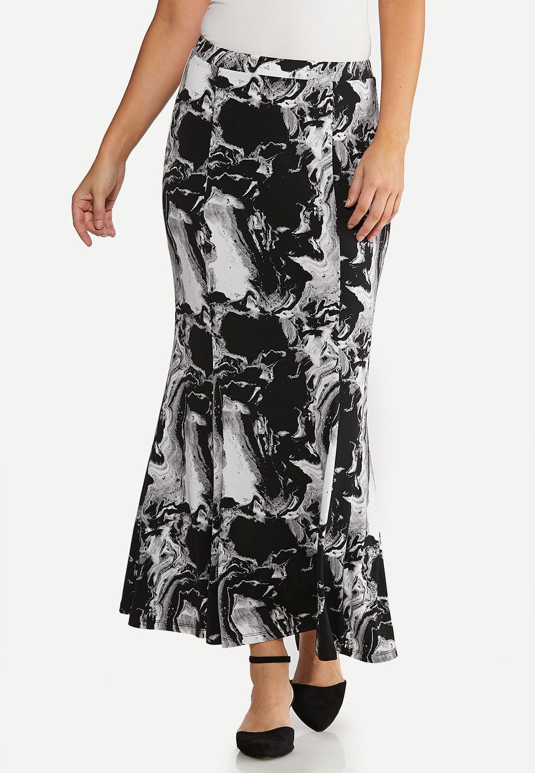 Petite Marble Maxi Skirt
