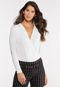 Surplice Knit Bodysuit