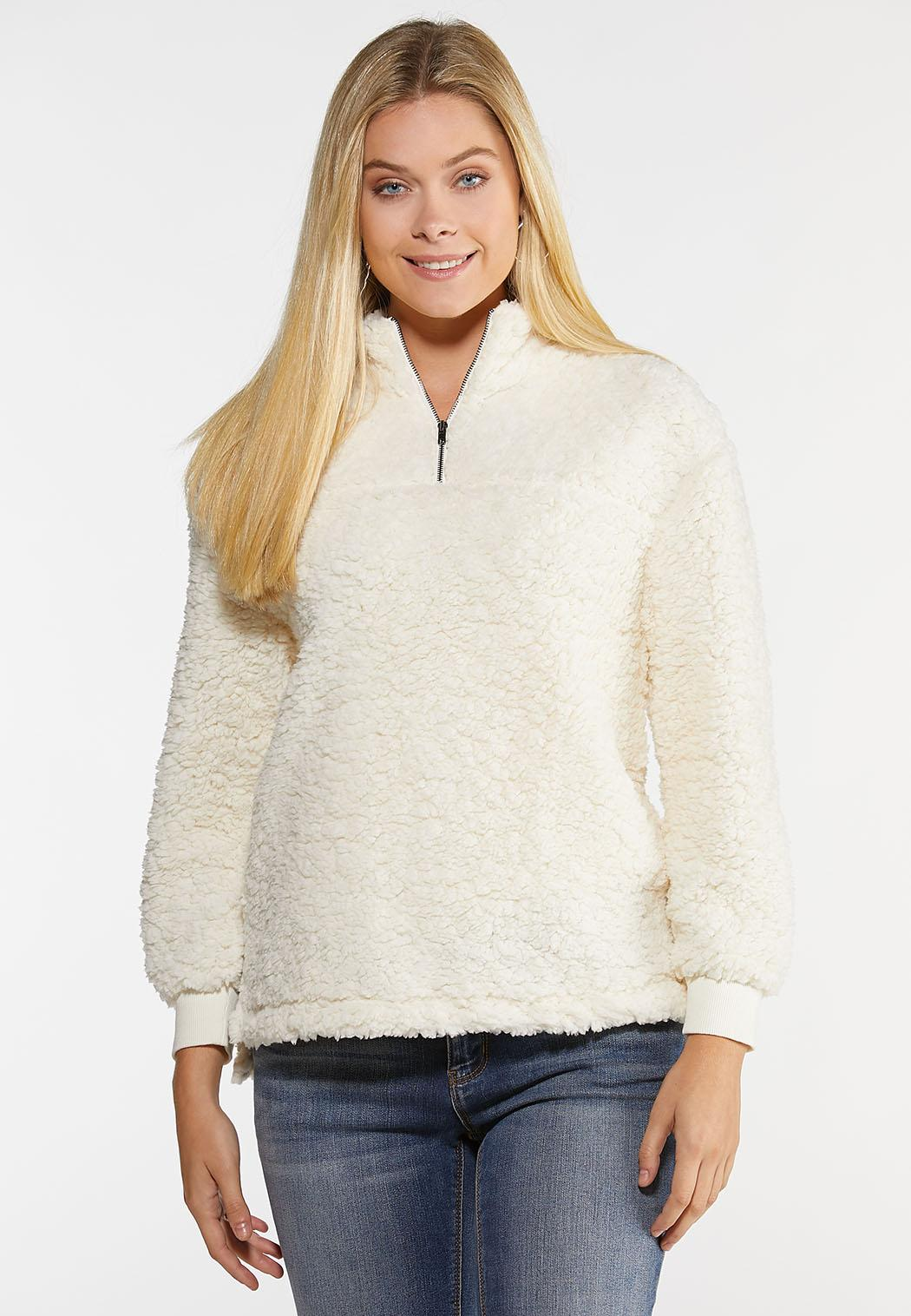 Plus Size Cozy Fleece Pullover Top