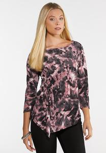 Plus Size Tie Dye Cinch Top