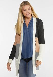 Colorblock Cardigan Sweater