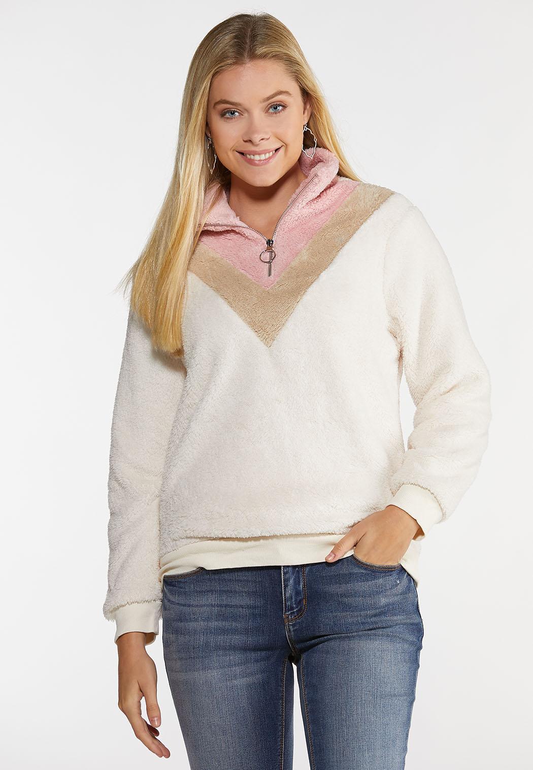 Plus Size Colorblock Zip Up Jacket