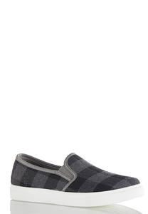 Plaid Slip-On Sneakers