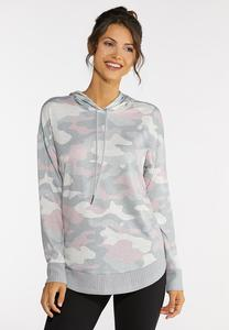Plus Size Blush Camo Sweatshirt