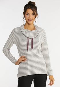 Plus Size Striped Active Top