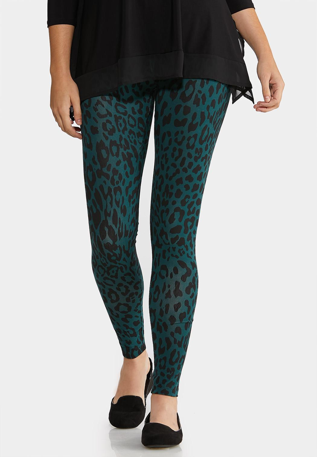 Green Leopard Leggings