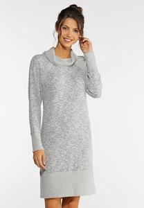 Plus Size Cowl Neck Active Dress