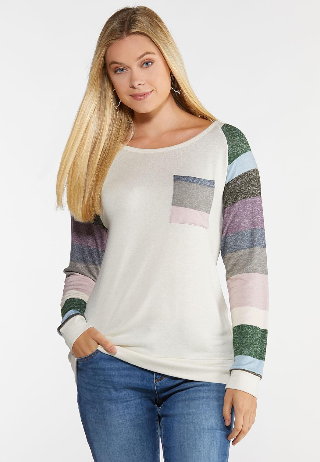 Plus Size Colorblock Raglan Top