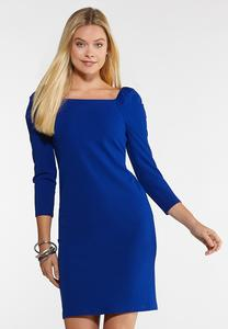 Square Neck Sheath Dress