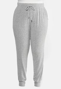Plus Size Hacci Jogger Pants