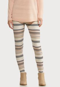 Blush Fair Isle Stripe Leggings