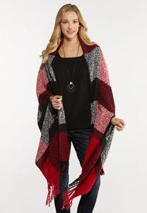 Brushed Plaid Cold Weather Wrap