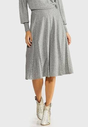 Gray Cable Knit Skirt