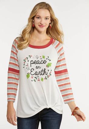 Peace On Earth Thermal Top