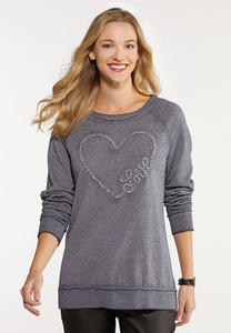 Vintage Blue Love Sweatshirt