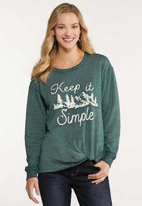 Keep It Simple Knotted Top