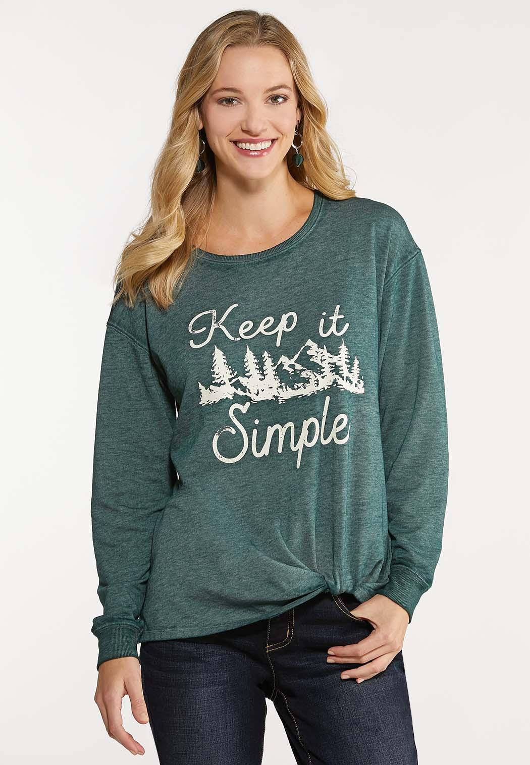 Plus Size Keep It Simple Knotted Top
