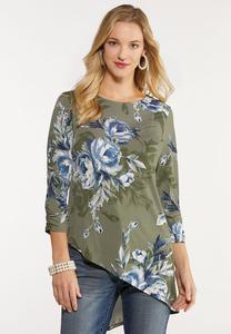 Floral Asymmetrical Tunic