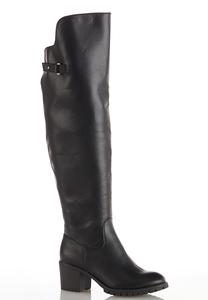 Over The Knee Lug Boots