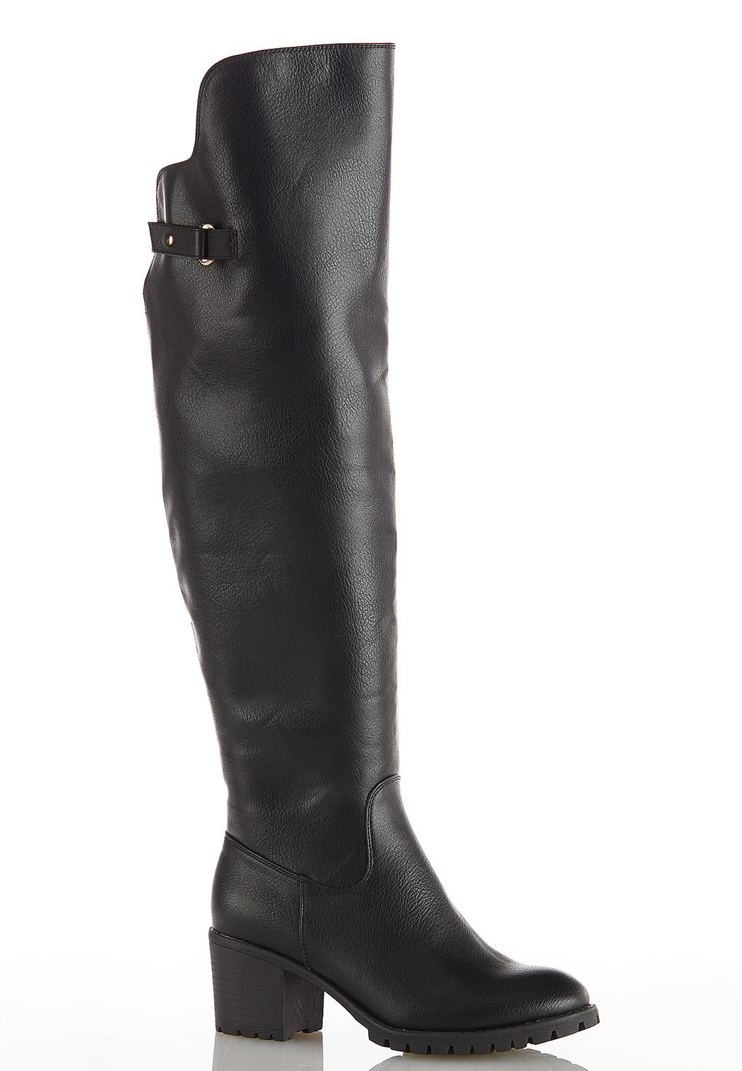 Wide Width Over The Knee Lug Boots