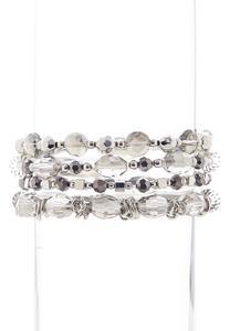 Gray Stretch Bracelet Set
