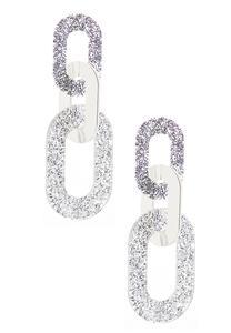 Glitter Lucite Link Earrings