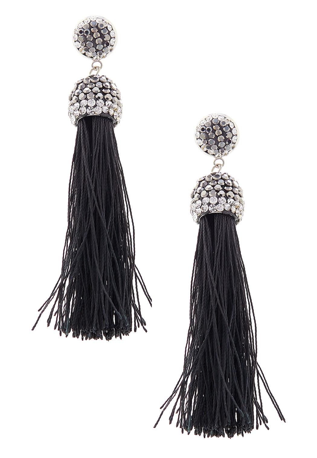 Seed Bead Statement Tassel Earrings