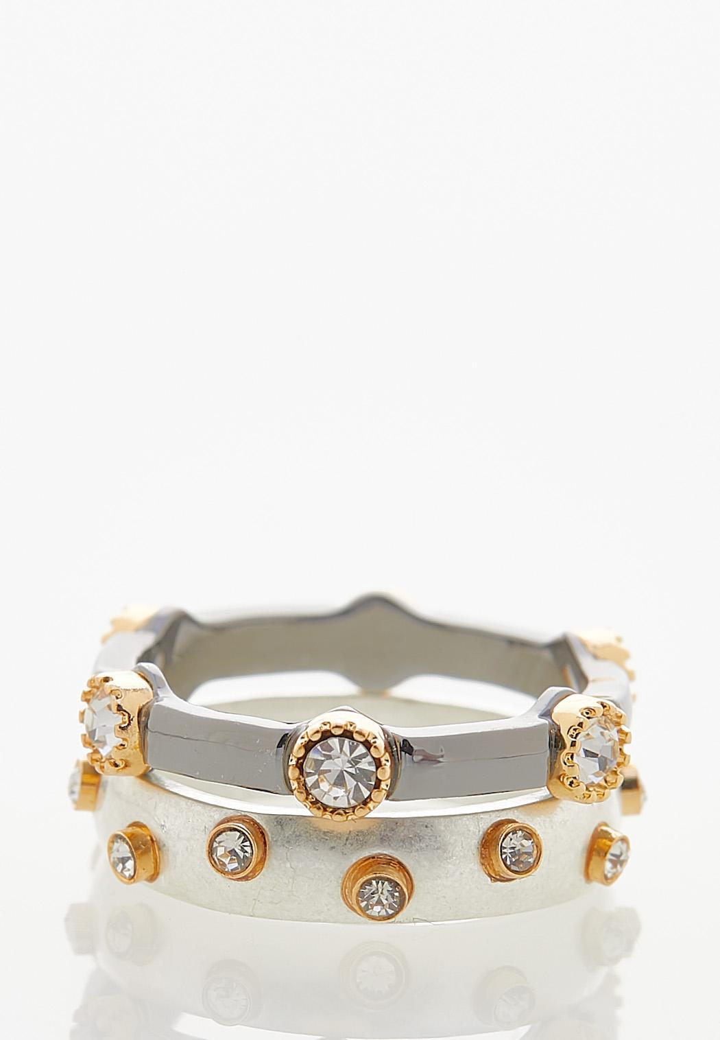 Chunky Stone Ring Set