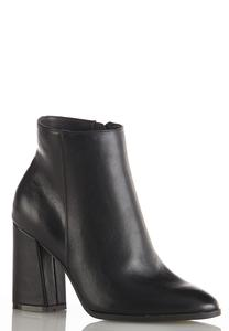 Flare Heel Ankle Boots