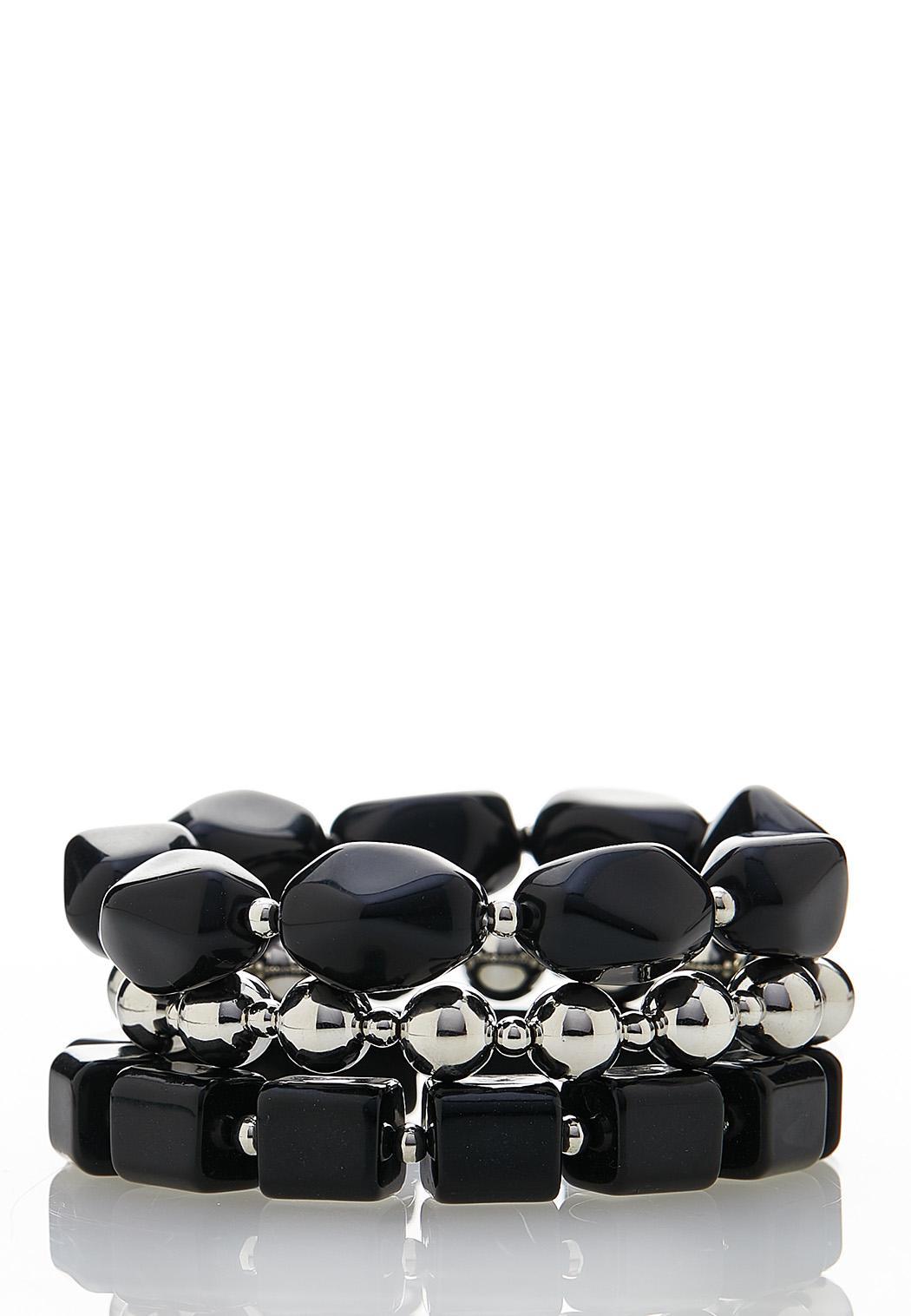 Acrylic Stretch Bracelet Set