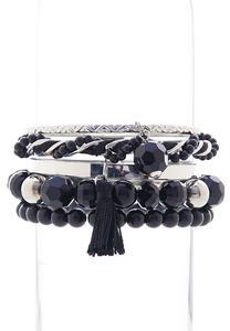 Multi Bead Charm Bracelet