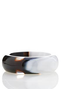 Two-Toned Resin Bangle Bracelet