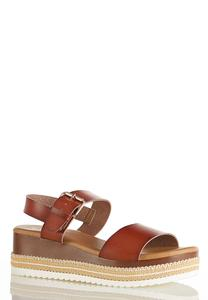 Roped Flatform Wedge Sandals