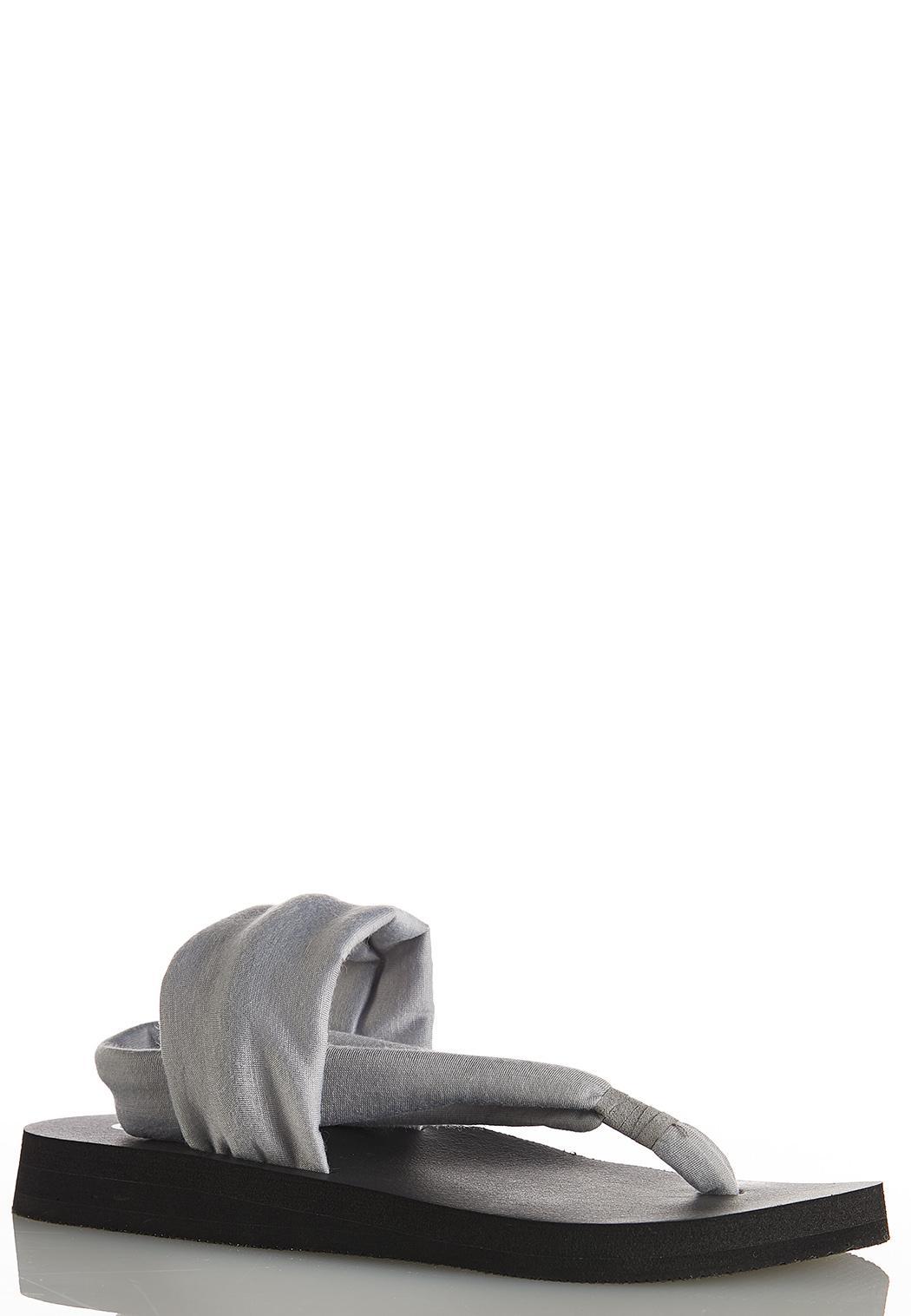 Fabric Band Flip Flops