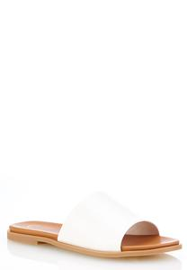 Wide Band Slide Sandals