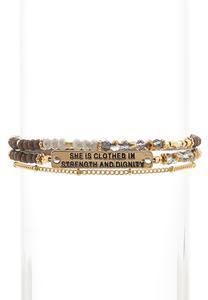 Inspirational Beaded Bracelet