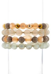 Staying Neutral Stretch Bracelet Set