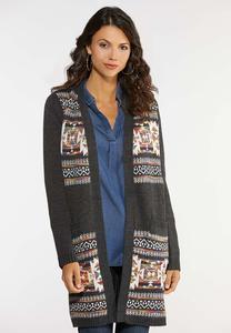 Plus Size Aztec Duster Cardigan