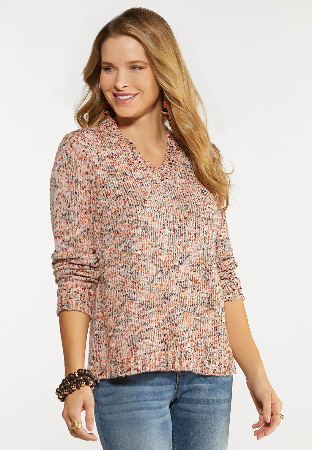 Multi Popcorn Textured Sweater
