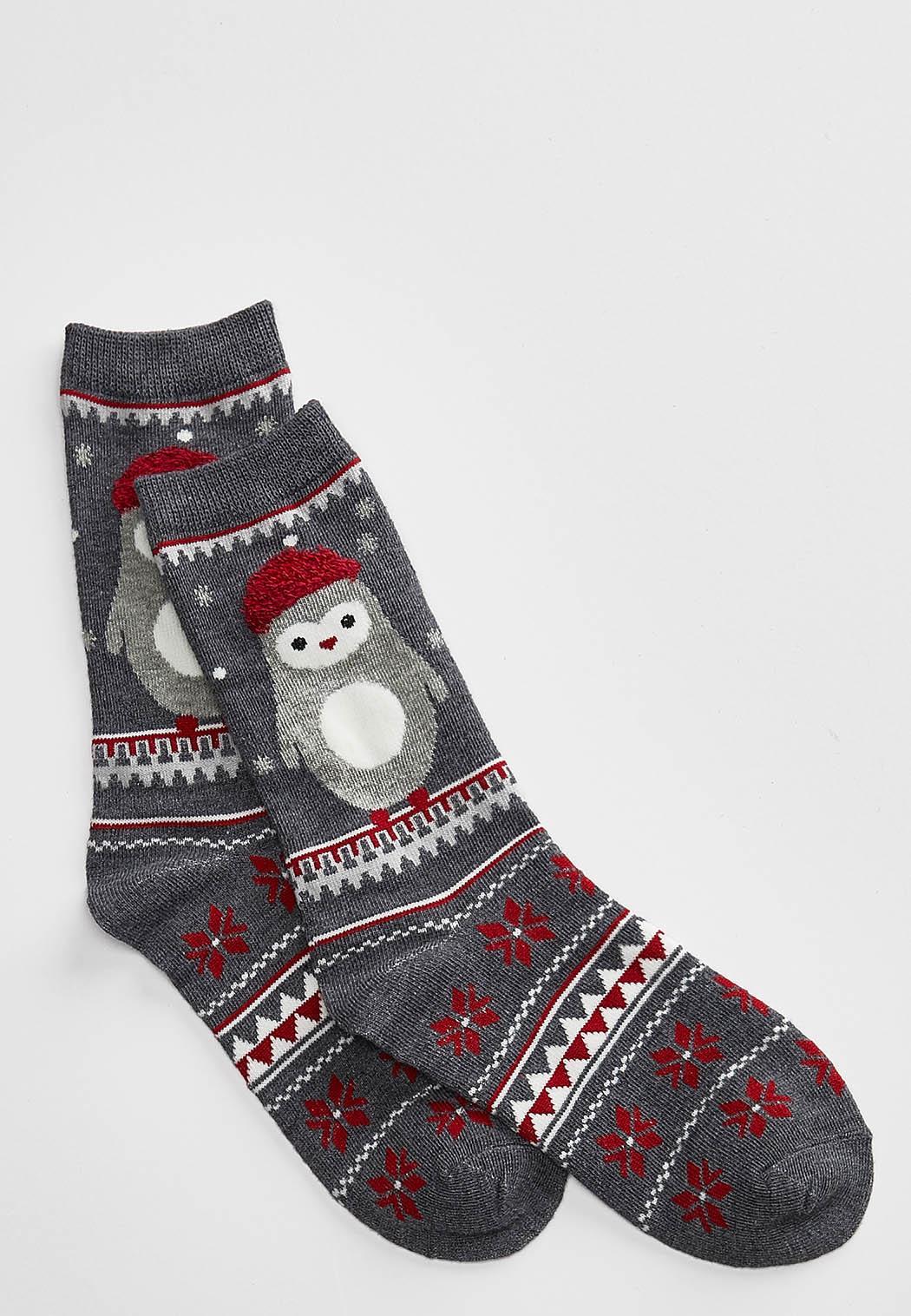 Penguin Fair Isle Socks