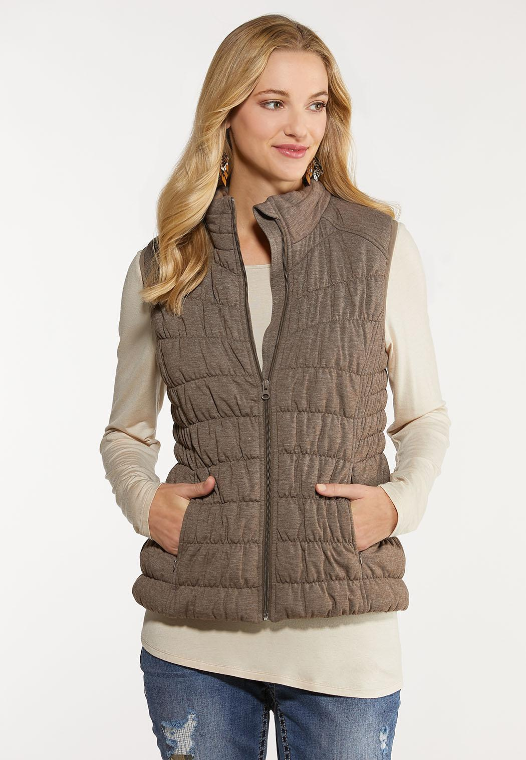 Plus Size Zip Up Puffer Vest