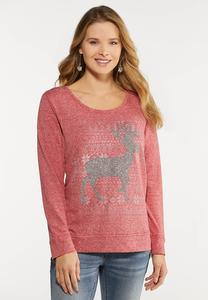 Beaded Reindeer Top