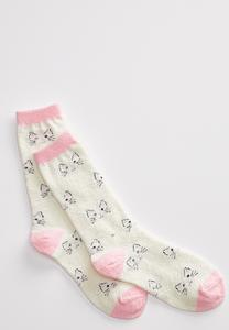 Cat Face Cozy Socks